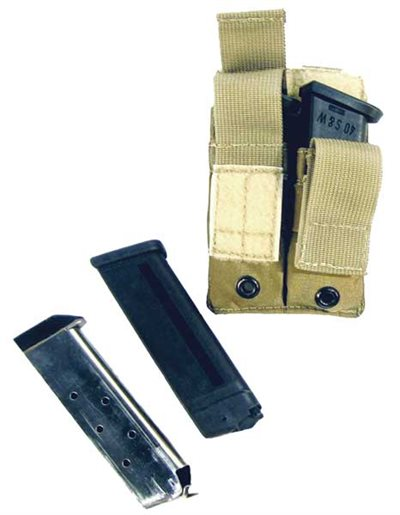 Double Pouch Single Pistol Mag w/Elastic Retention